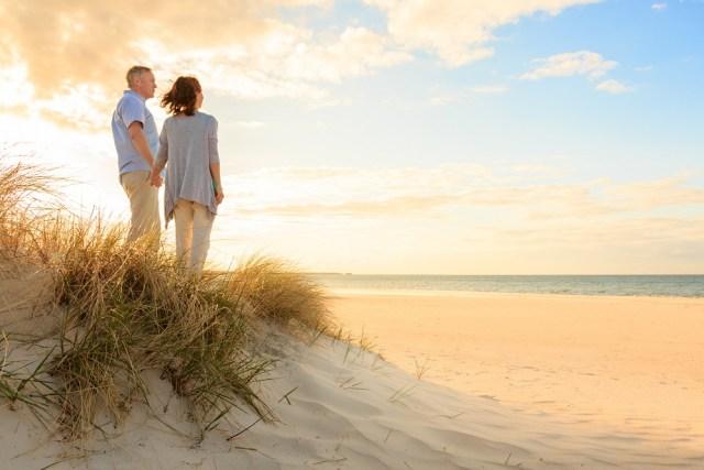 Mature couple at beach