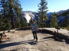 On the Half Dome Trail with a lenticular cloud in the background