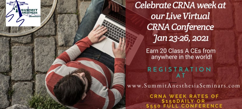 LIVE CRNA week virtual conference Jan 23-26, 2021