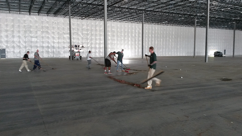 Summit Building Services Has Completed Scrubbing And