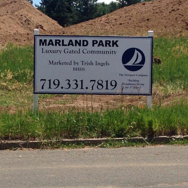 High-quality yard sign