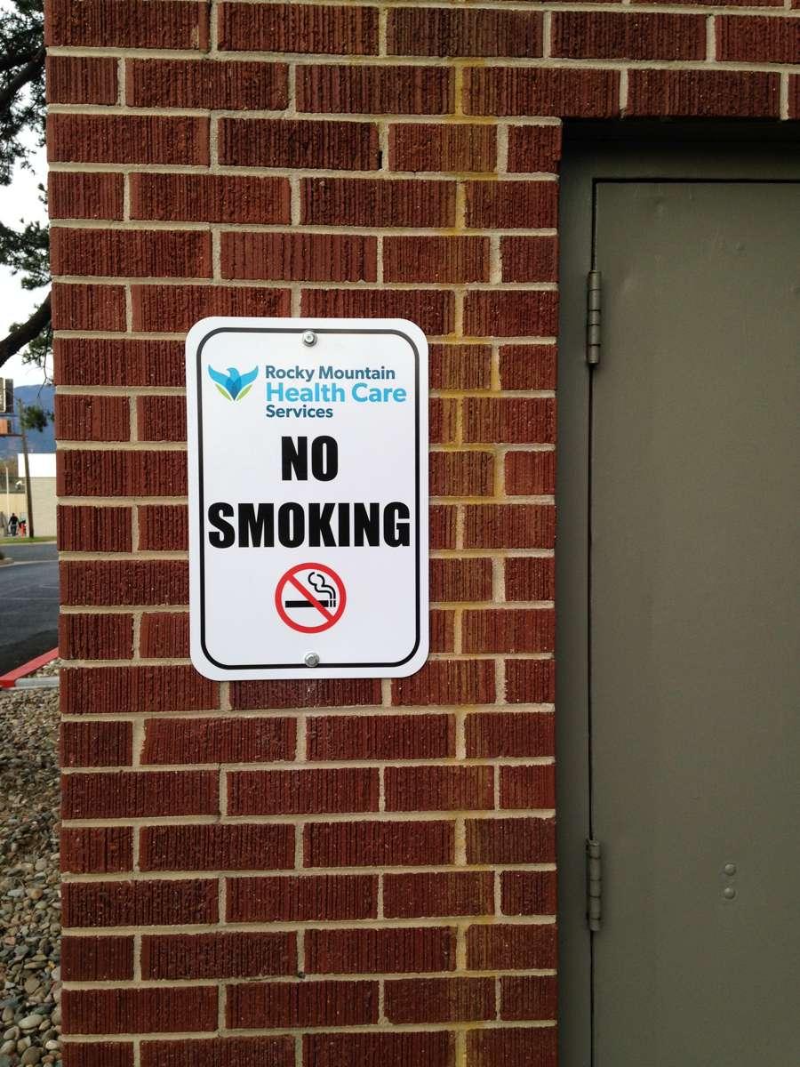 Rocky Mountain smoking sign