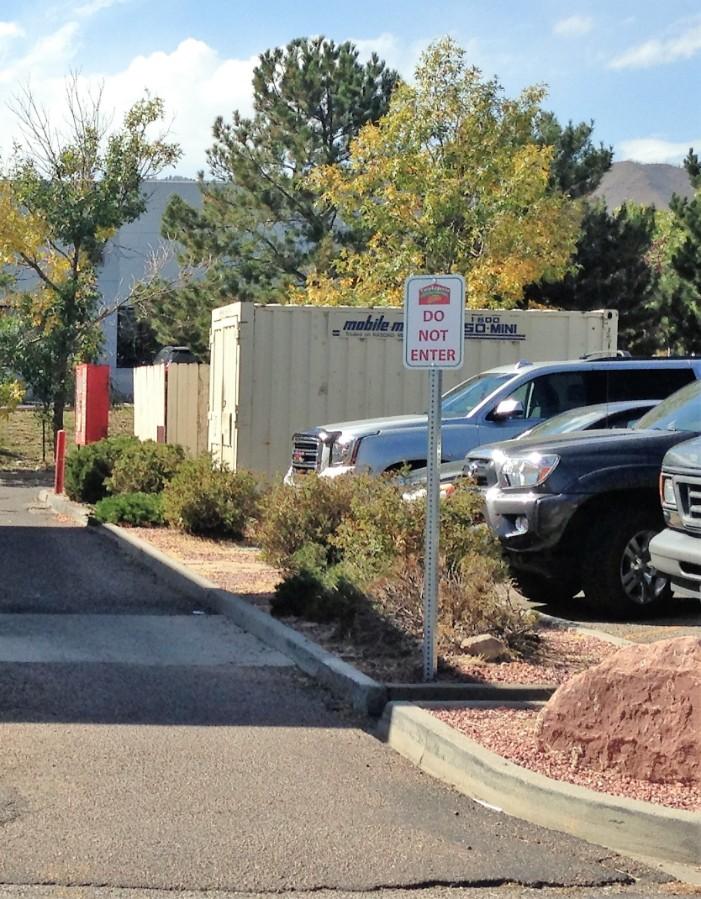 taco express parking lot sign - taco-express-parking-lot-sign