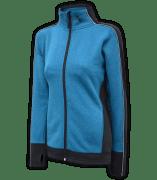women's fitted jacket, power stretch fleece, blue
