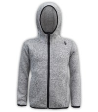 kids north shore fleece gray jacket black zipper summit edge brand hoodie