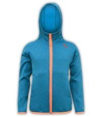 blue and orange zipper kids jacket hood