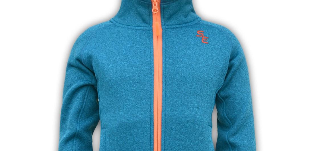 blue and orange zipper kids jacket hood