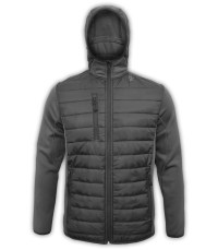 summit-edge-outerwear-brand-mens-jacket-black-nylon-quilted=down-3-zipper-pockets-horizontal-hooded-power-stretch