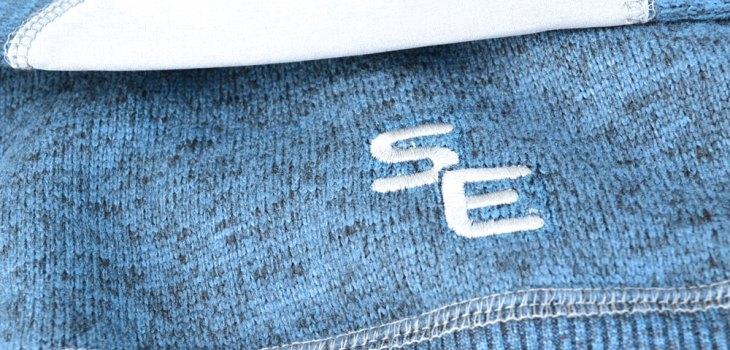 blue, summit edge fabric, north shore fleece jacket, mens fleece