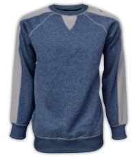 summit edge mens pullover, sweater fleece, gray, denim, blue