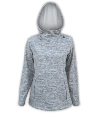 summit edge outerwear brand womens best hoodie, gray white buttons, ultra soft fuzzy comfortable low price