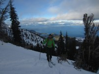 Mike skinning above Tahoe