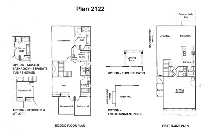 Floor Plan Plan 2122A Floor Plan ( sq ft, beds) at Palm
