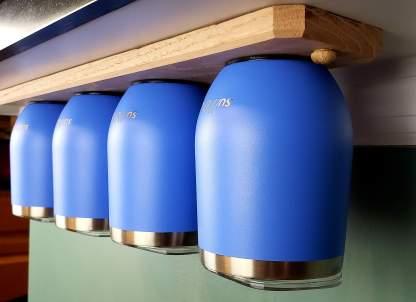 4 Cup Magnetic Tumbler Rack Under Countertop