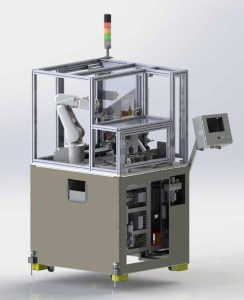 Injection molded automated assembly cell