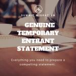 Genuine Temporary Entrant Statement 1