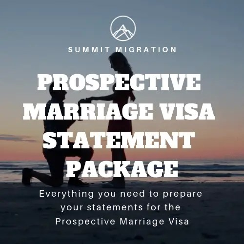 Prospective Marriage Visa Statement Package 1