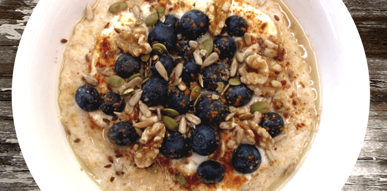 Buckwheat Oatmeal with Nuts and Berries