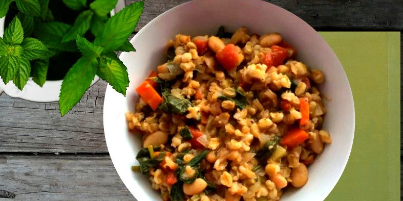 Persian Barley and Bean Stew
