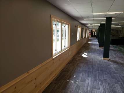 Conference room hallway remodel