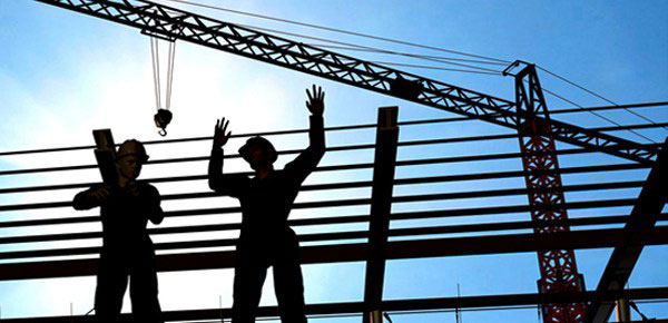 Men working on electric lines