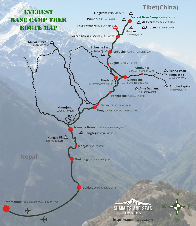 Everest Base Camp Trek Route Map