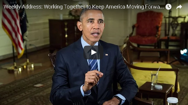 President Obama's Weekly Address: Working Together to Keep America Moving Forward