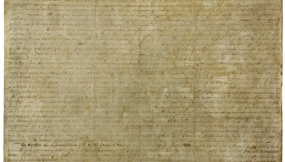 July 4, 1776 The Unanimous Declaration Of Independence Of The Thirteen United States of America