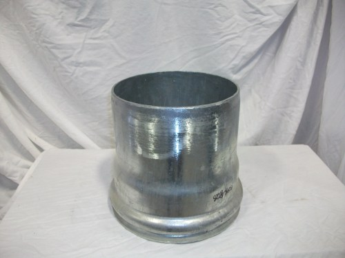 Galvanized Male Coupler 8""
