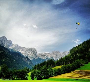 Paragliding the Austrian Alps.