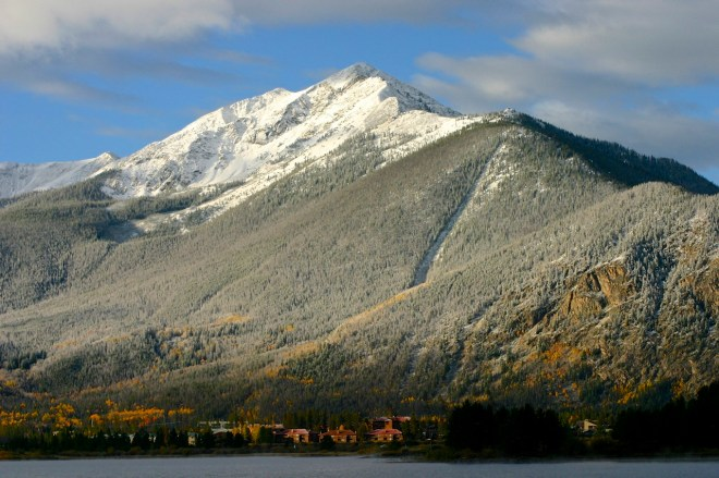 Snow on Peak 1, Summit County Colorado