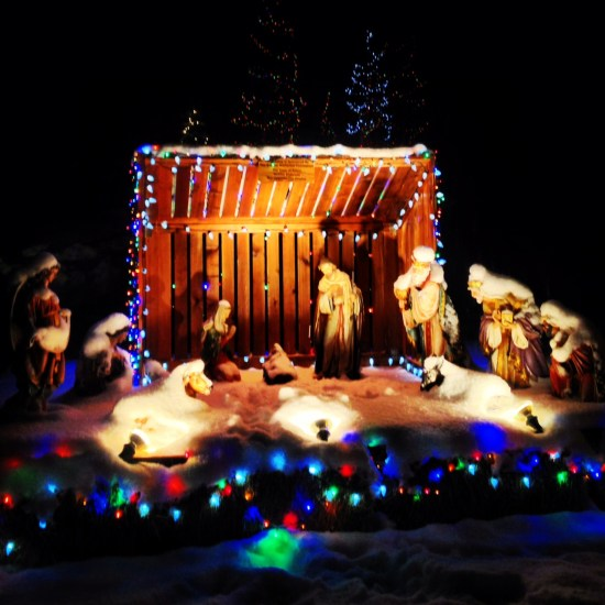 The creche in Frisco's town park.