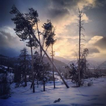 Lodgepole sunset, Swan Mountain.