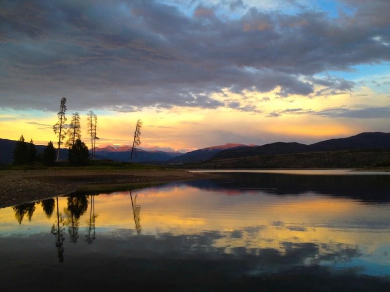 Spring sunset in Frisco, Colorado.