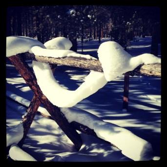 Snow ropes in Summit County, Colorado.