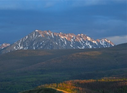 Evening light in the Rocky Mountains.