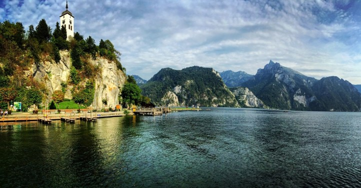 At the Traunsee in the Salzkammergut.