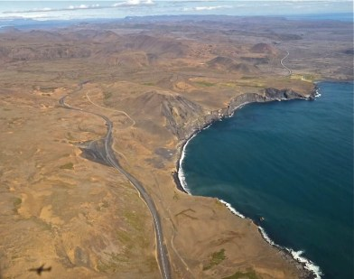 Coast highway, Iceland.