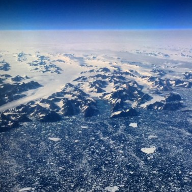 Coastal sea ice around Greenland.