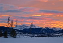 Sunrise over the Rocky Mountains