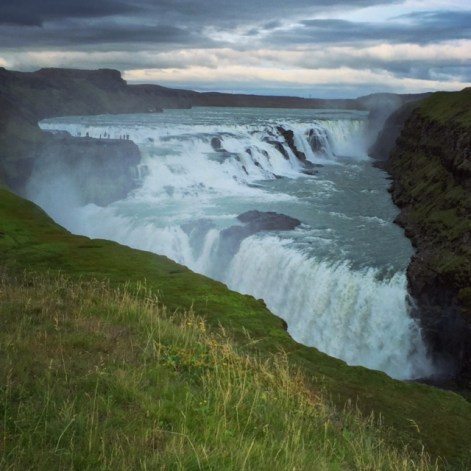 Gullfoss, located in the canyon of the Hvítá river.