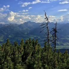 Mountain view in Gesäuse National Park, in the central Austrian Alps.