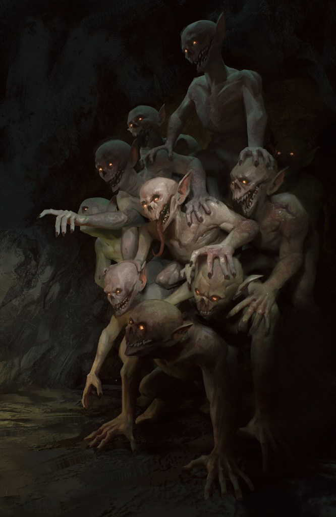 """""""Children of the deeps"""" art by Maxence Burgell re-imagined as the Itty Bitty Shitty Committee"""