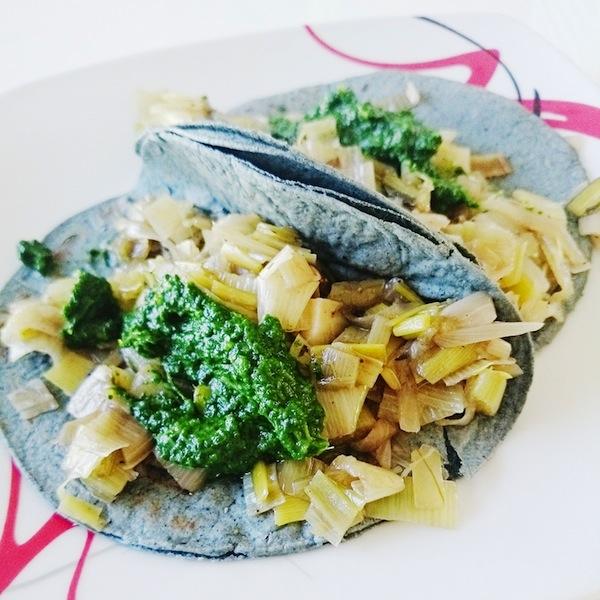 Tacos Veganos de Acelgas y Su Salsa Verde