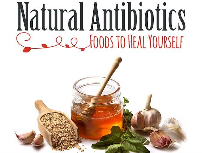 Natural Antibiotics Infographic