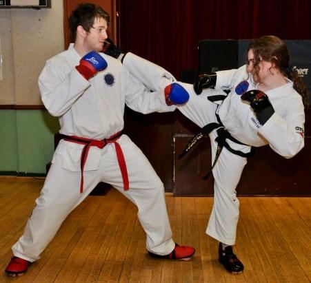 Sumners TKD sparring - 3