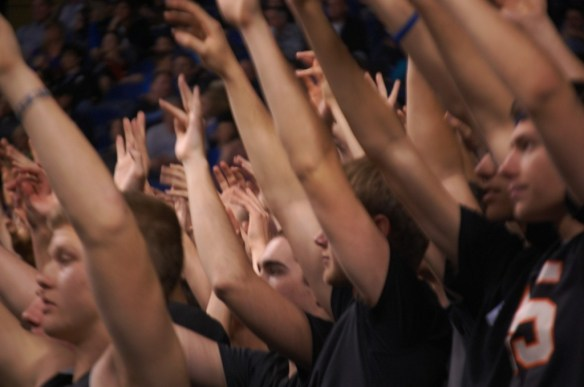 Covington Catholic cheering section at Rupp Arena