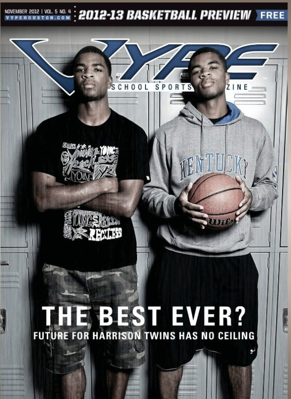 Harrison Twins on cover of VYPE Magazine in November 2012