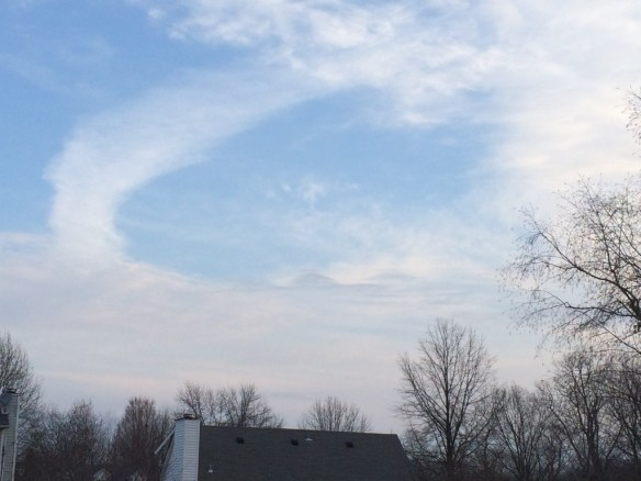 Wind whipped cloud arch