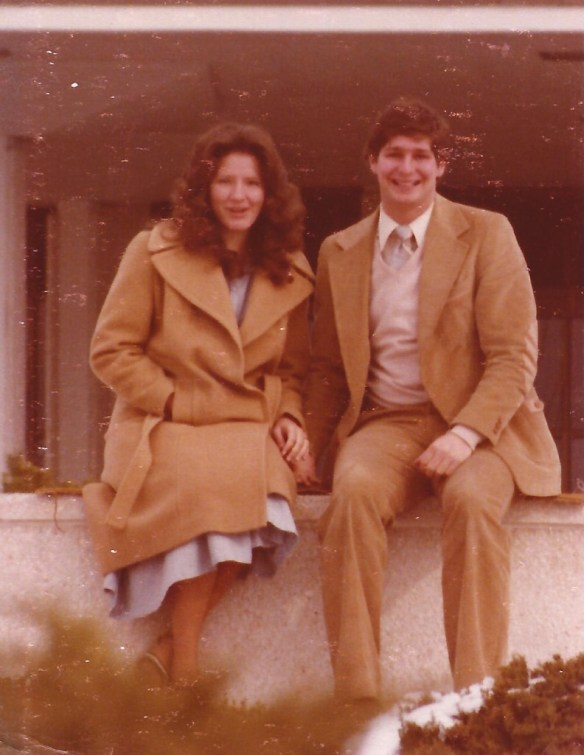 An early photo of Julianne and me shortly after our engagement in 1979.  Notice...no moustache!